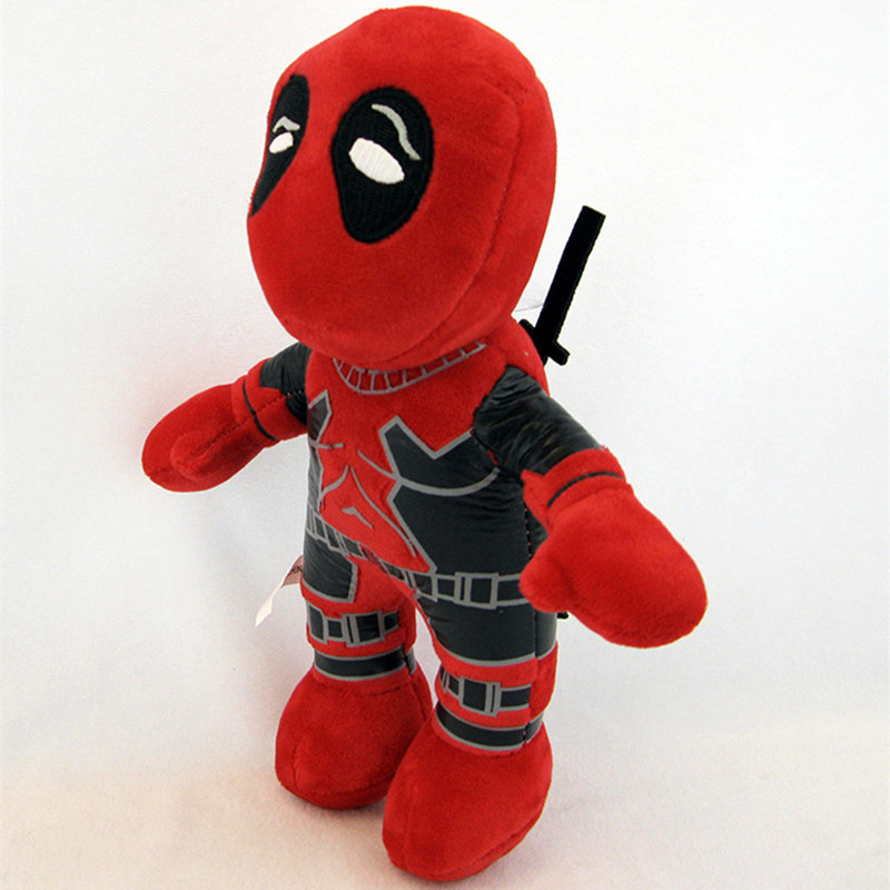 26CM 2016 Marvel Movie Deadpool Soft FUNKO POP Deadpool Spiderman Plush Doll Toy Figure