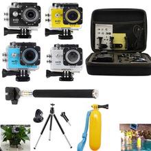 2.0″ WiFi SJ6000-w9 Swim Sport Waterproof Camera + Bag Float Grip Tripod Monopod