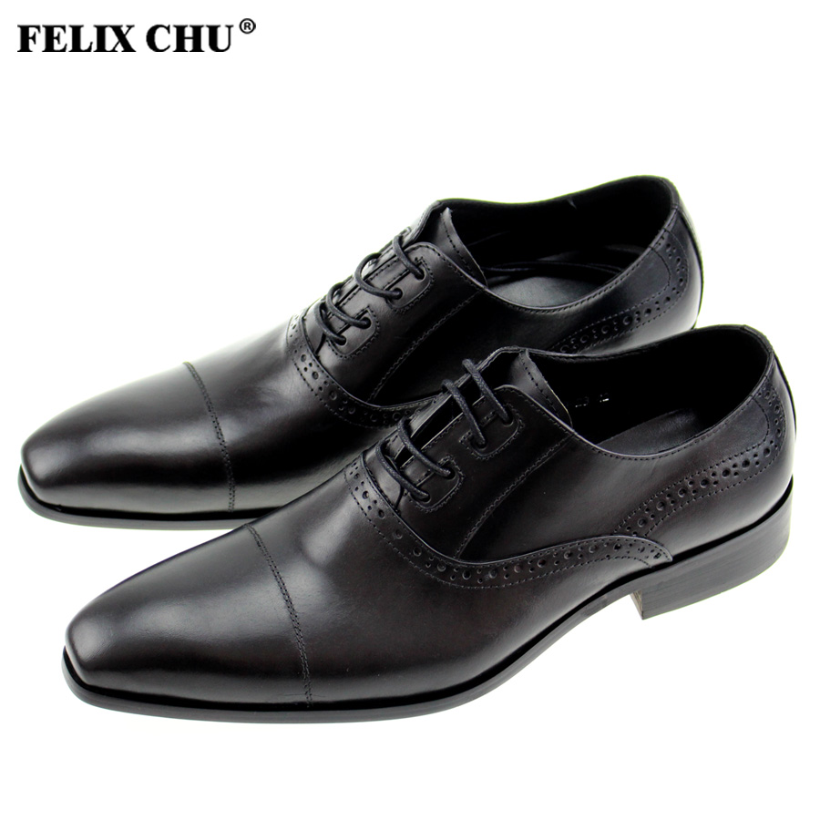 Felix Chu Classic Formal Buckle Leather Shoes For Men