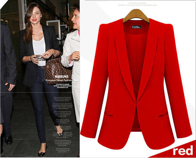 Womens Red Suit Jacket