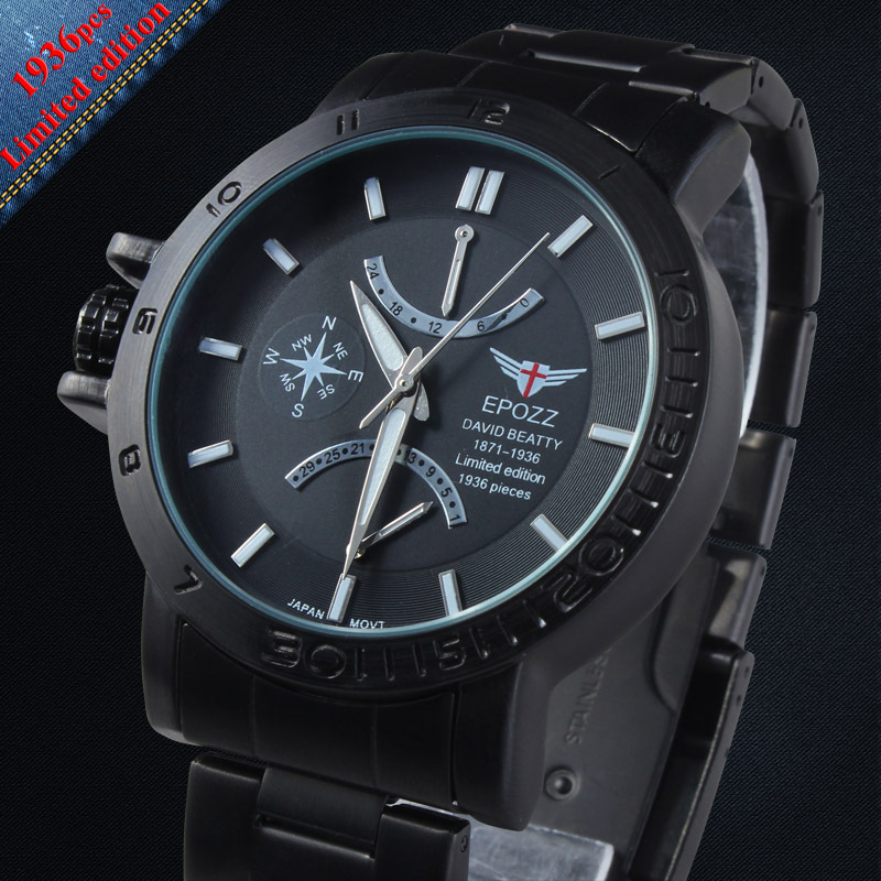 EP1602 50atm Japan Movt Quartz Watch Stainless Steel Band