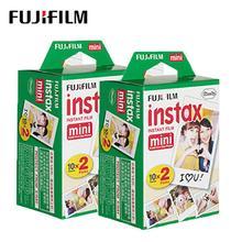 Fujifilm Instax Mini Film 2 packs (40 sheets) white Edge Instant Photo paper Camera mini 7S 8 25 50S 90s Film free shipping