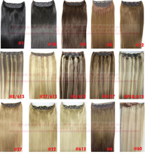 free shipping straight16″-28″ 1pcs set  100% remy human hair clips in/on extensions 120g 140g 160g