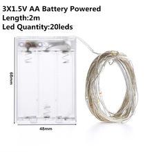 Светодиодная лента DC5V AA батарея CR2032 с питанием от USB, 10 м, гирлянда для праздников, праздников, Рождества, Нового года, вечеринки, свадьбы, укр...(Китай)
