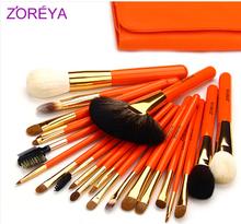 Hot sale 2013 NEW Zoreya 22 makeup brush set loose powder brush blush brush the professional make-up cosmetic tool Free shipping