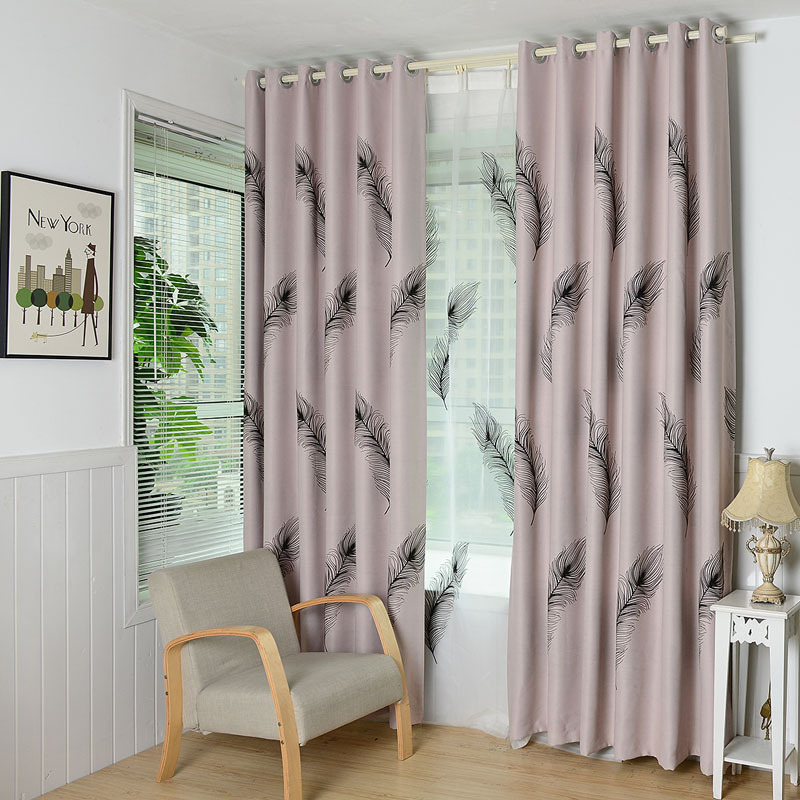 European feather style window curtain for living room - European style curtains for living room ...