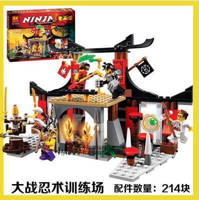 New 214pcs BELA 10319 Dojo Showdown Minifigures Ninja Jouet De Construction Ninjago Building Block as SY335