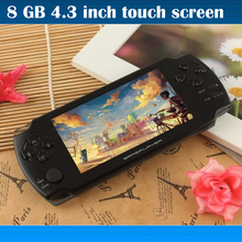 8GB portable game console 4.3 inch touch screen with camera Ebook handheld more many kinds free games MP3 MP4 Player