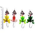 Random Color Hot Sale New Promotions 1 Pcs Soft Shiny Silica Gel Frog Lure Bass Crank