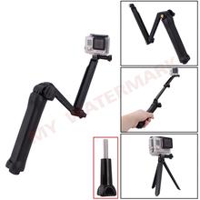Go Pro Accessories Extendable Self Selfie Stick Handheld Monopod Holder Camera 3 Way Grip Arm Tripod Monopod Mount