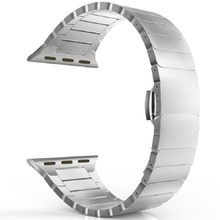 Роскошный браслет из нержавеющей стали для apple watch Series 5 4 3 1 2 iwatch 44 мм 40 мм 38 мм стальной ремешок 42 мм с адаптерами(Китай)