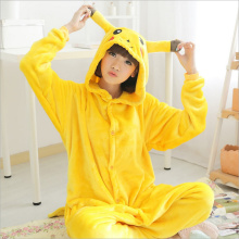 Animal Onesie Cartoon Sleepwear Adult Onesies Pyjamas Women Unisex Pokemon Pikachu Stitch Minion Panda Anime Cosplay Pajamas