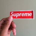 112 pcs lot Supreme sticker red small size SUPREME 9x2 8cm waterproof and oilproof phone glass