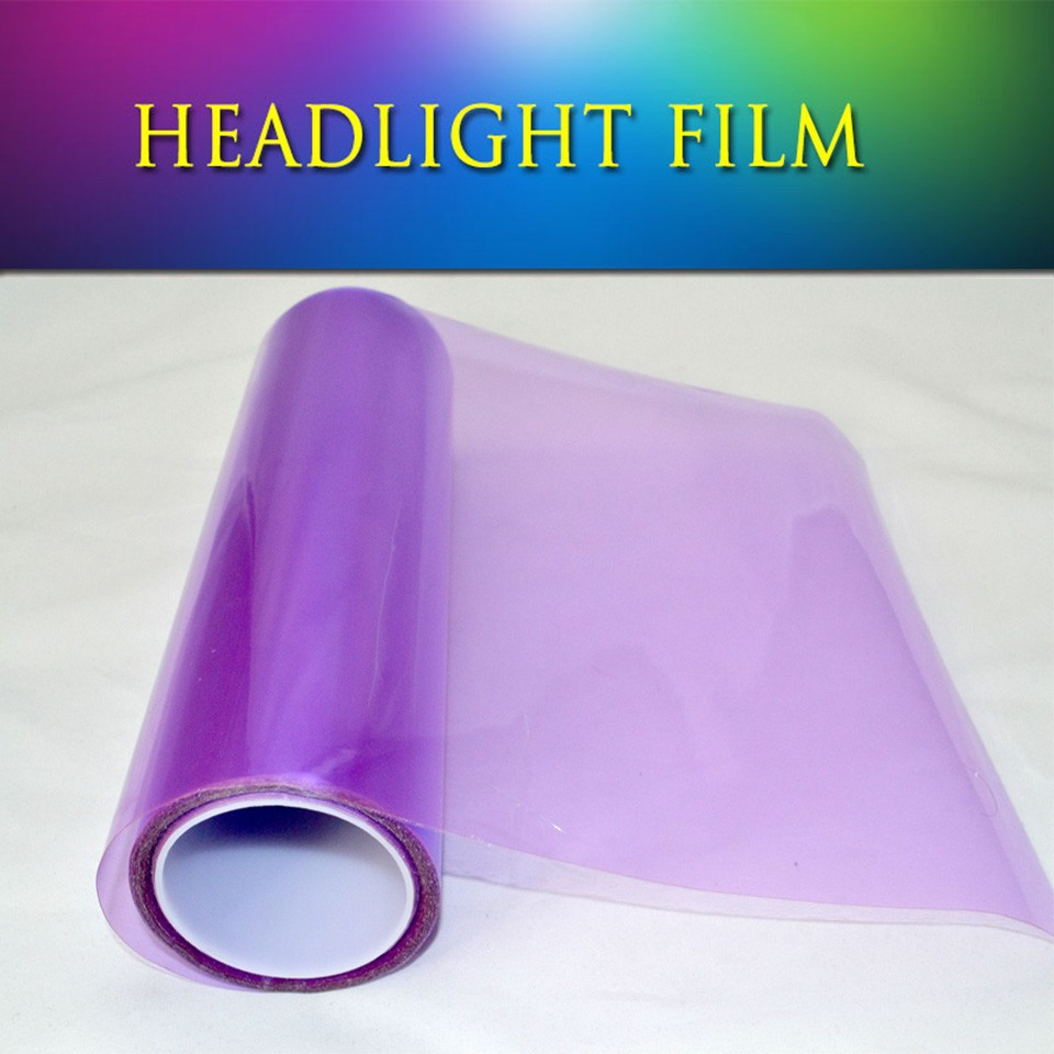 0 3x10m1x33ft Quality Pvc Filme Farol Headlight Tint For