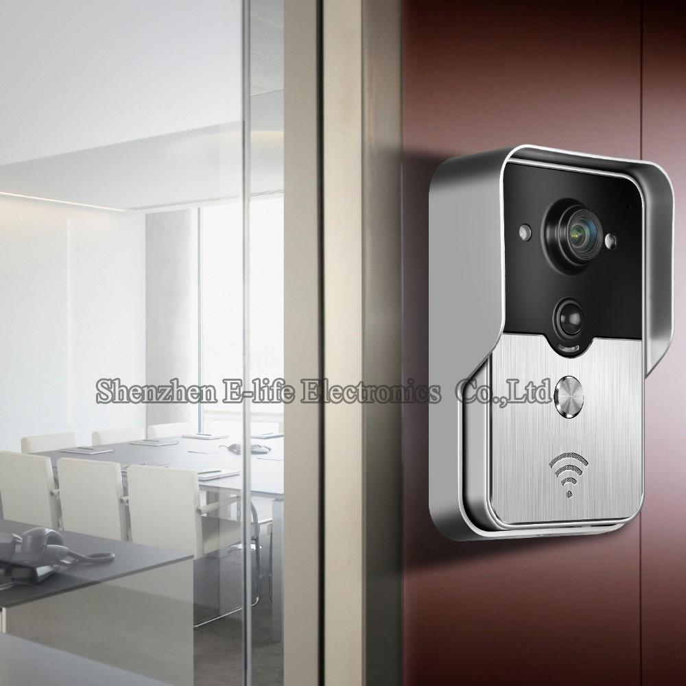 Wi-fi беспроводная видео дверь телефон внутренняя связь дверной звонок Peehole камера пир ик ночное видение сигнализация Android IOS Smart для дома