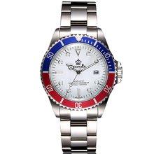 Мужские спортивные кварцевые часы от бренда REGINALD со стальным ремешком, бизнес часы, водонепроницаемые золотые часы, Relogio Masculino(Китай)