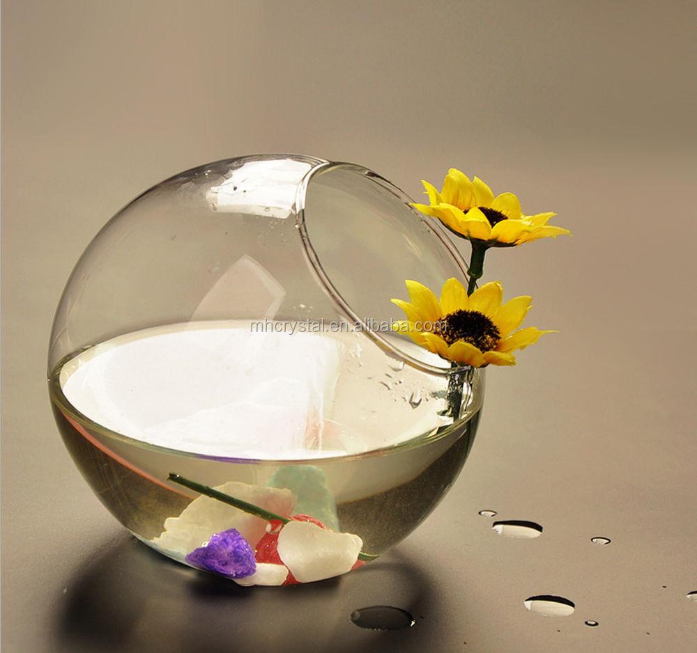 Tilted Glass Bubble Bowl Vase Mh 12730 Buy Glass Terrarium Round Glass Globe Terrarium Round