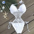 Cupshe 2016 New Style Women s Sexy Crochet Beach bikini Monokini One Piece Swimsuit Women