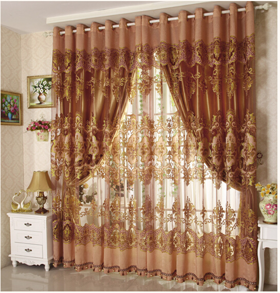 2 colors european style curtains the living room balcony - European style curtains for living room ...