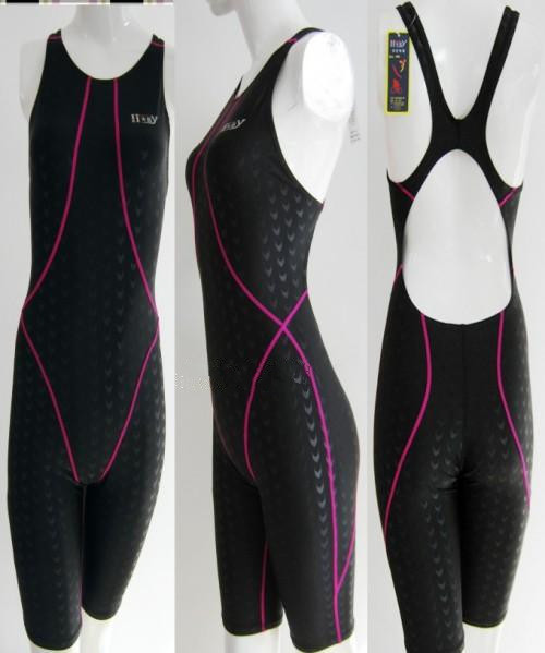 e55735cd3c81a Approved one piece competition knee length waterproof chlorine resistant  women s swimwear sharkskin swimsuit - Enjoy Swim