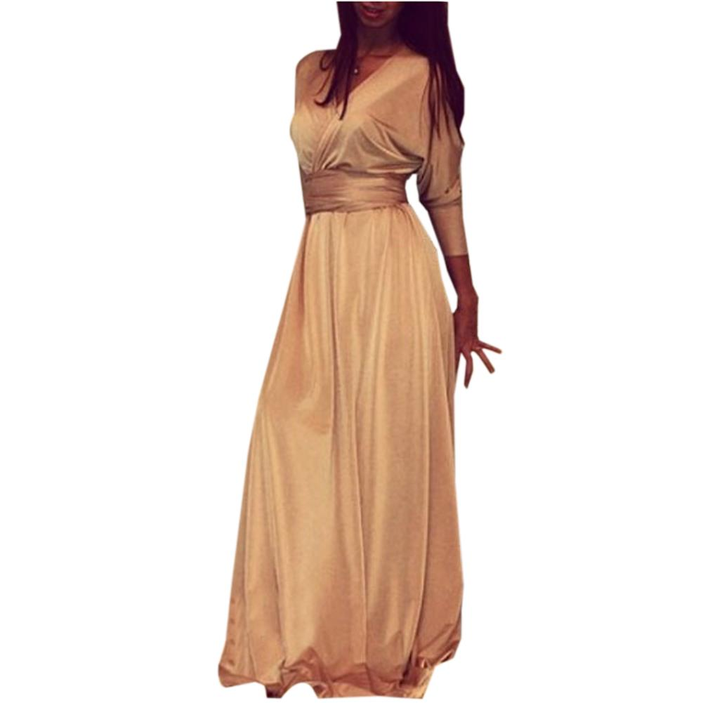 Summer maxi dress with sleeves