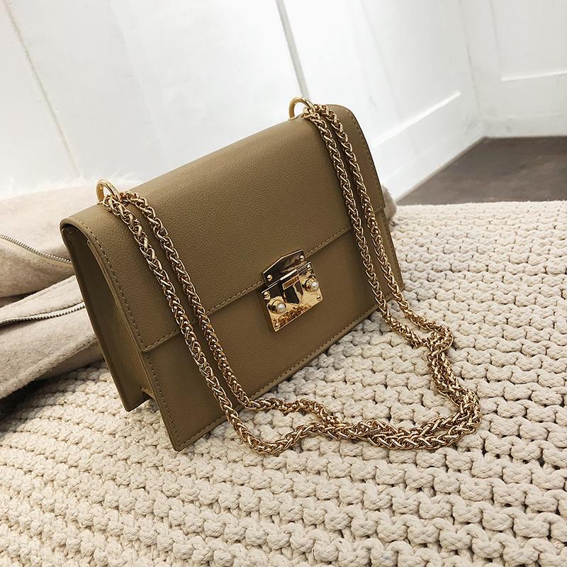 Элегантный женский небольшой площади сумка 2020 Мода новое качество из искусственной кожи Для женщин дизайнерские сумки цепочка плеча сумки(Китай)
