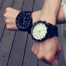Coreano Moda Relogio Homens Esporte Necessário Grande Mostrador do Relógio Estudante Silicone Neutro Relógios Negócio Relógio de Pulso Nova 2016