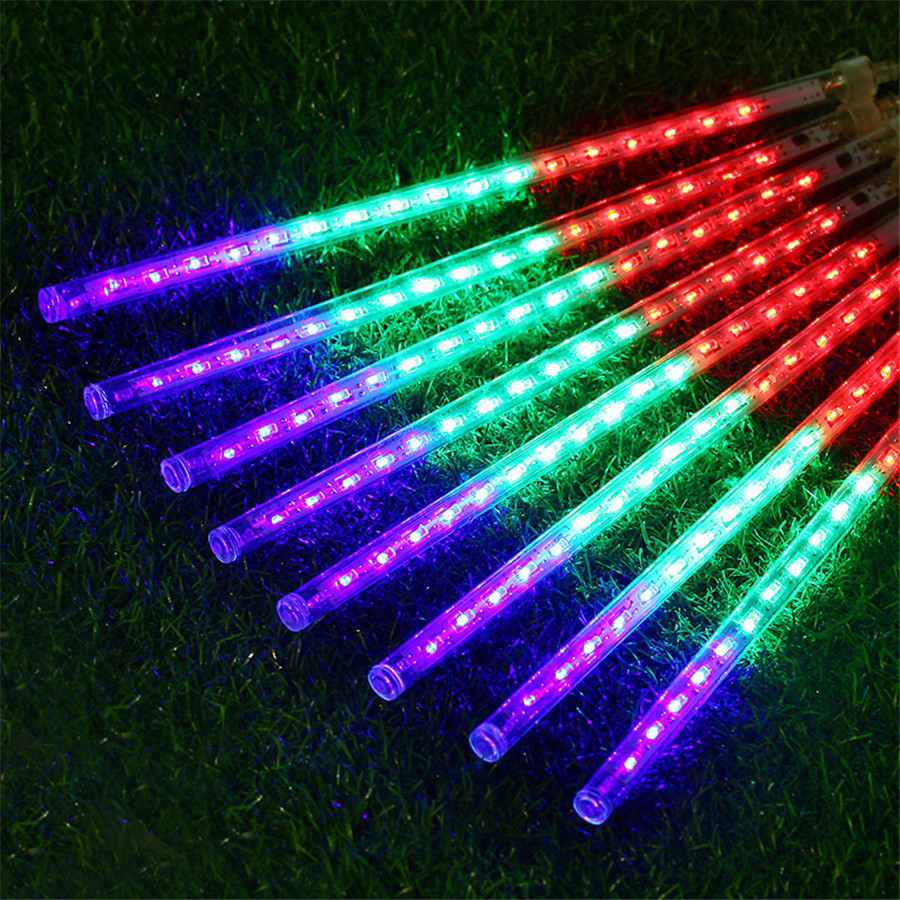 50cm 8pcs Meteor Shower Rain Tube String Light Outdoor