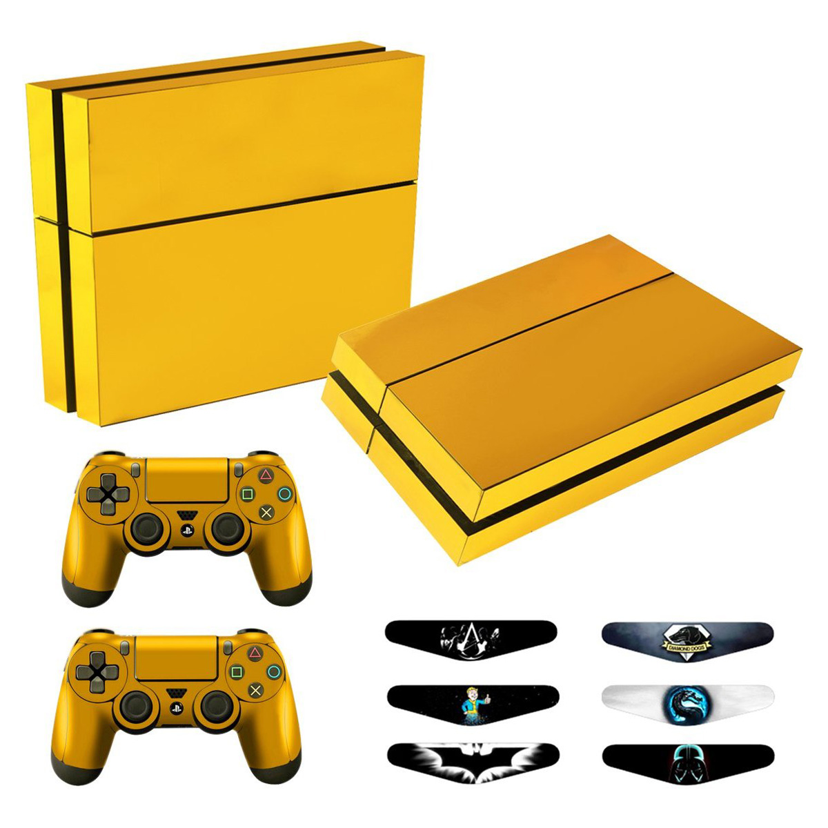 Beautify Worldwide Gold Plating Ps4 Slim Skin Sticker Decal For Sony