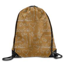 3D Print Love Icon Shoulders Bag Women Fabric Backpack Girls Beam Port  Drawstring Travel Shoes Dust Storage Bags 731da78fff2d6