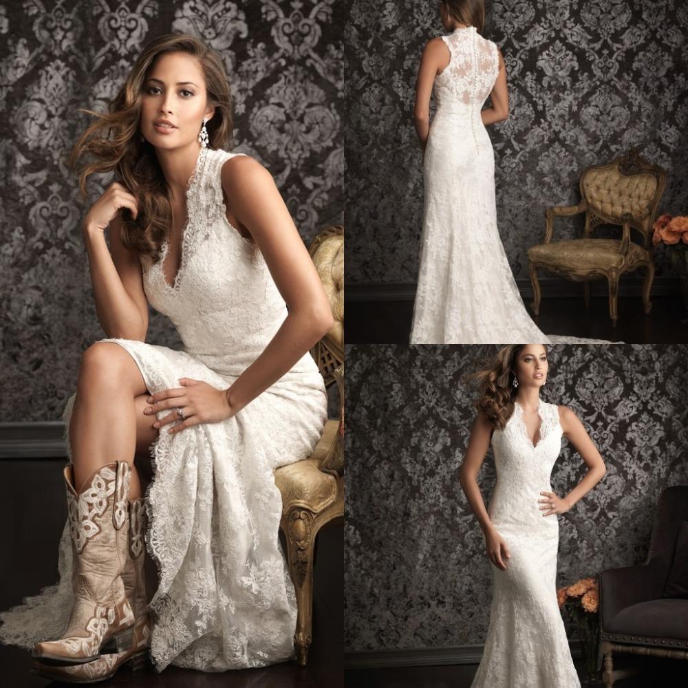 2015 Spanish Lace Wedding Dresses Country Western Vestidos ...