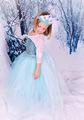 2016 gilrs Clothes Romance Princess kids Dress Cartoon Movie Cosplay Fever Elsa Dresses Costume Children Clothing