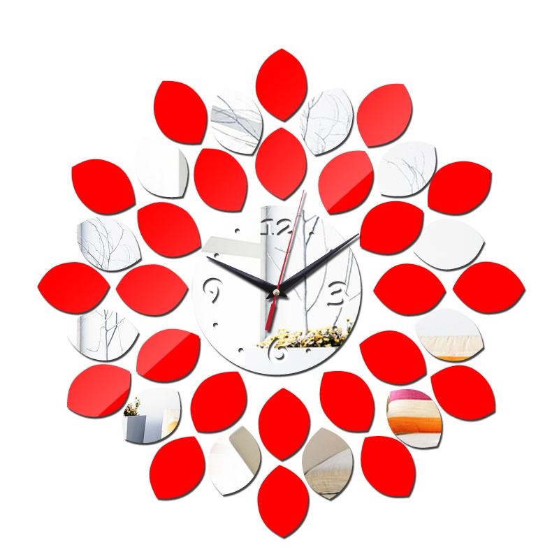 2016 Hot Watch Wall Clock modern design Big Acrylic Clocks Modern relogio de parede Mirror 3d