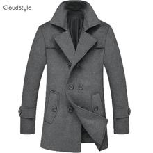 New Elegent Wool Long Coat Jacket Blazer Outdoor Big Size Men Male Coats 2014 Mens Winter Trench Coat Suit Clothing Plus Size