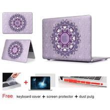 Floral Paisley Matte Case For Apple Macbook Air 13 Case Air 11 Pro 13 Retina 12 13 15 Laptop Bag For Mac Book Pro 13 Case