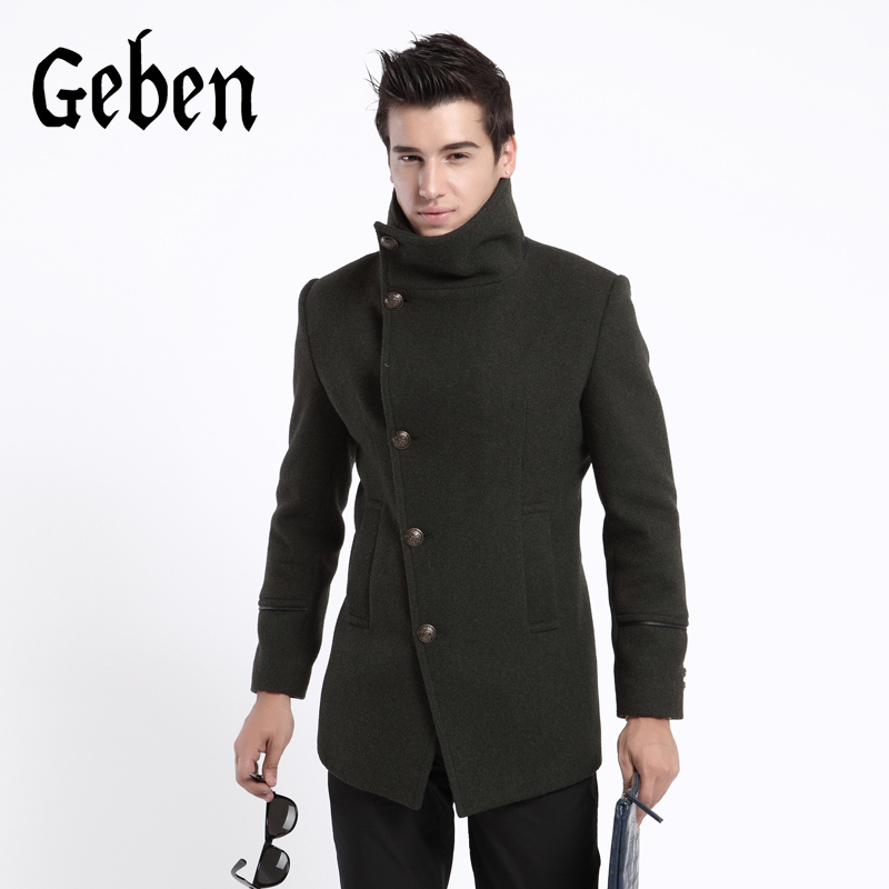 buy fashion mens clothing trench coat men winter. Black Bedroom Furniture Sets. Home Design Ideas