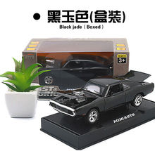 1970 Dodge Chargers R/T 1:32 MINIAUTO car model with stand kids toy pull back light sound Fast & Furious sports car collection