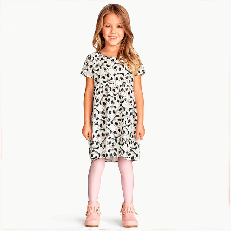 Free shipping Princess Dress Kids Clothes Dot braces dress cotton cute knee length princess casual girl