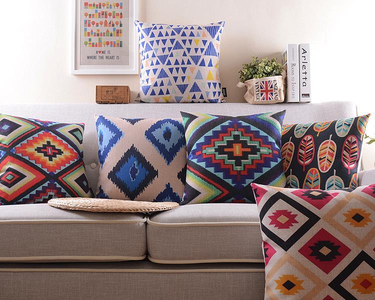 Arabic touches <font><b>Home</b></font> Pillow <font><b>Decoration</b></font> <font><b>Bohemian</b></font> style Pillows <font><b>Decorate</b></font> High Quality Linen Material Pillow free shipping