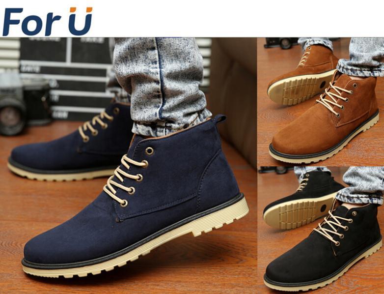 9097c06be75d3 ... Nouveau 2015 Automne Printemps Hommes chaussures Qualite lumiere casual  high top Mode hommes chaussures bottes taille