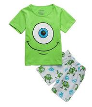 New Arrival Boys and Girls Summer Minions Pajamas Suits Kids Pyjamas Carton Sleepwear fashion PJS for
