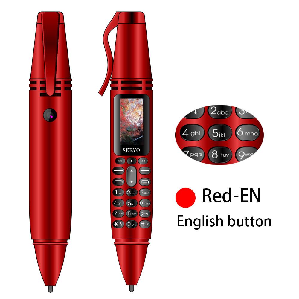 """SERVO K07 ручка мини мобильный телефон 0,96 """"маленький экран GSM двойная SIM Камера Фонарик Bluetooth звонящий мобильные телефоны с записывающей ручкой(Китай)"""