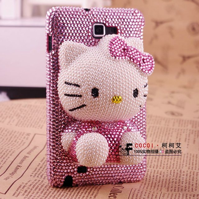 Pink 3D Bling Hello Kitty Phone Cover For Samsung Galaxy