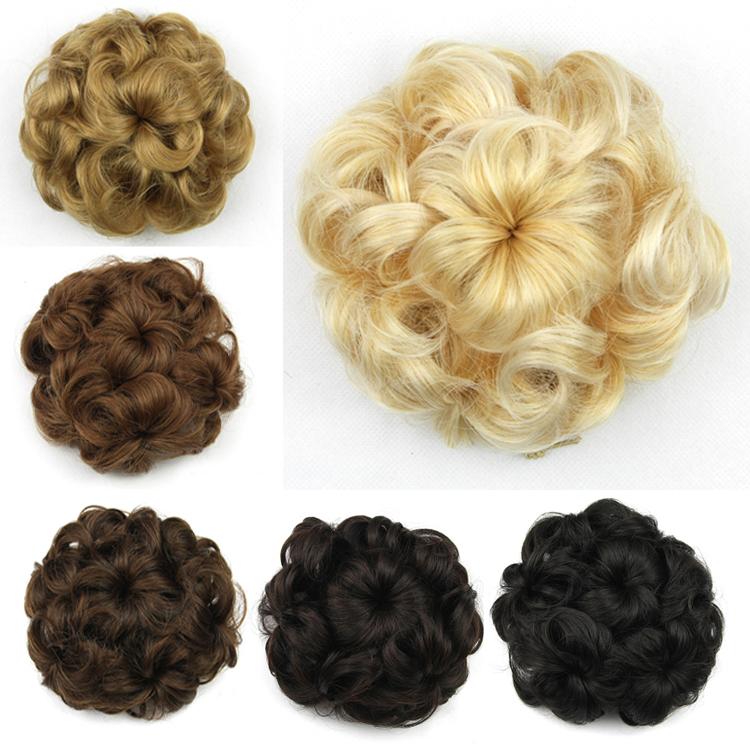 5 цветов, бун волос шиньон, синтетические роликовые шиньоны donut, 1 шт.