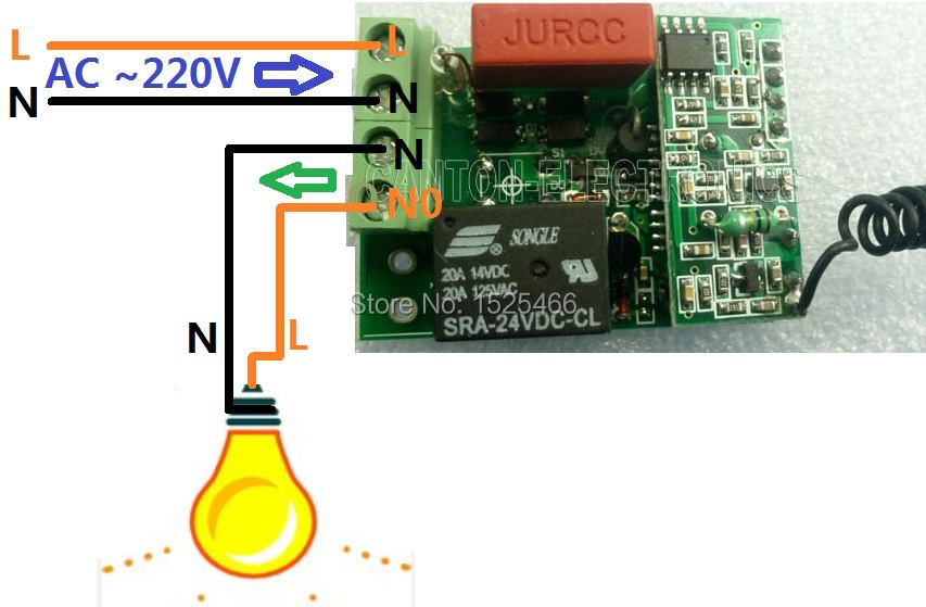 AC 220V 433Mhz Wireless Remote Control Switch RF Relay Receiver for LED  Lamp Smart Home
