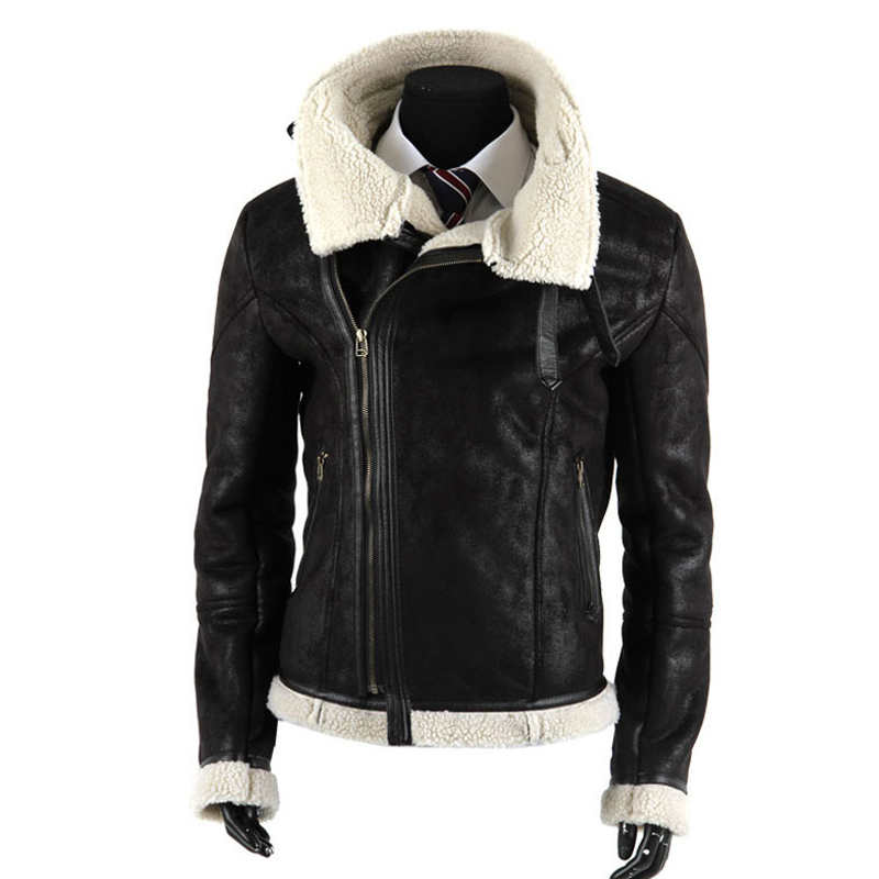 Black/Brown Faux Leather Motorcycle Jacket Mens Fashion ...