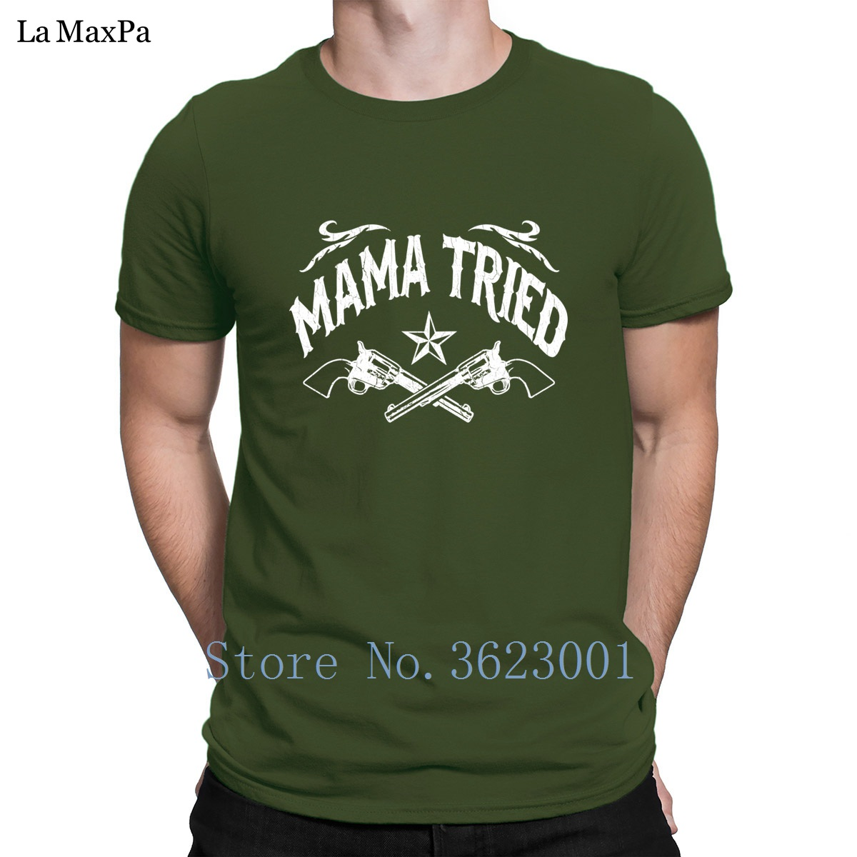 Create Big Sizes T Shirt For Men Mama Tried Vintage Distressed Look T Shirt Stylish New Tshirt Vintage Hot Sale Basic Solid
