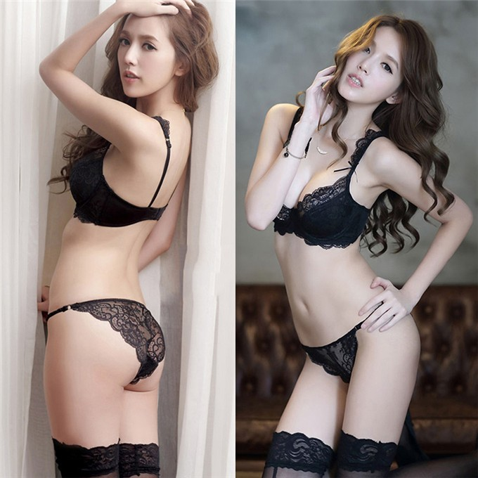 788499503ad Wholesale Sexy Bra Panty Sets Women Lace Embroidery Bras Knickers ...