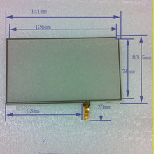 6-inch four-wire resistive touch 141 * 83.5 GPS navigation accessories Newman S6000TV S6800TV 6 inch