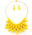 6 Sweet Candy Colors Jewelry Sets Summer Dress Matched Multi Layer Chunky Beads Tassels Necklace Earring